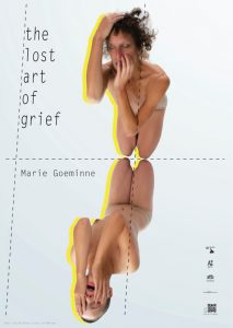 poster layout proposal for performance the lost art of grief