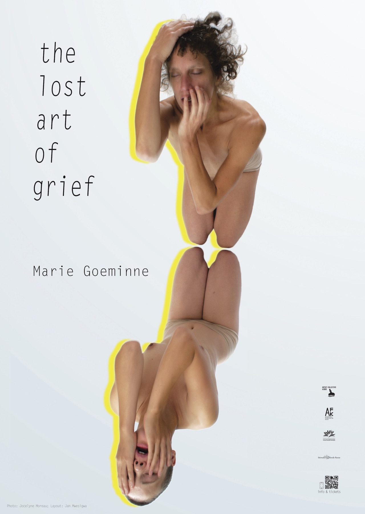 poster layout for performance the lost art of grief